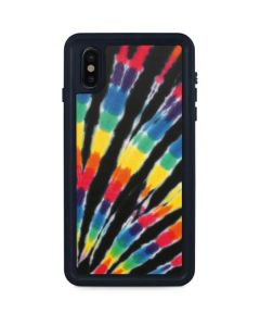 Tie Dye - Rainbow iPhone XS Max Waterproof Case