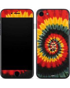 Tie Dye - Rasta Spiral iPhone 7 Skin