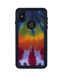 Tie Dye iPhone XS Waterproof Case