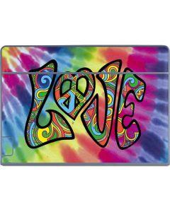 Tie Dye Peace & Love Galaxy Book Keyboard Folio 12in Skin