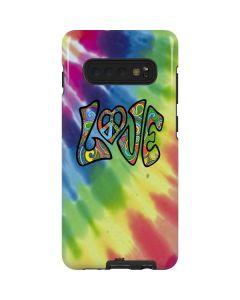 Tie Dye Peace & Love Galaxy S10 Plus Pro Case