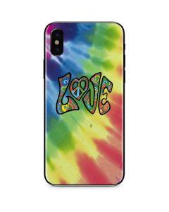 Tie Dye Peace & Love iPhone X Skin