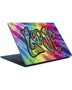 Tie Dye Peace & Love Surface Laptop Skin