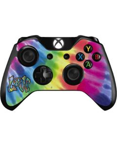 Tie Dye Peace & Love Xbox One Controller Skin