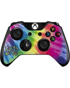 Tie Dye Peace & Love Xbox One Controller Skin