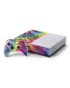 Tie Dye Peace & Love Xbox One S Console and Controller Bundle Skin