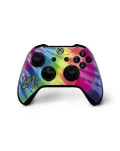 Tie Dye Peace & Love Xbox One X Controller Skin