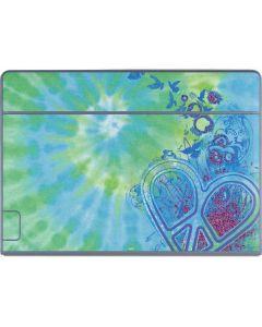 Tie Dye Peace Heart Galaxy Book Keyboard Folio 12in Skin