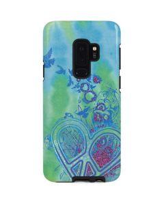 Tie Dye Peace Heart Galaxy S9 Plus Pro Case