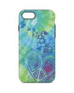 Tie Dye Peace Heart iPhone 8 Pro Case