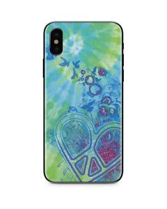 Tie Dye Peace Heart iPhone X Skin