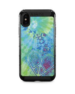 Tie Dye Peace Heart iPhone XS Cargo Case