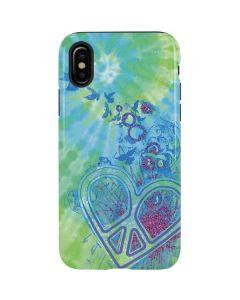 Tie Dye Peace Heart iPhone XS Pro Case