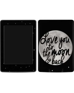 To The Moon And Back BW Amazon Kindle Skin