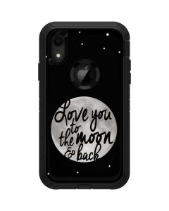 To The Moon And Back BW Otterbox Defender iPhone Skin