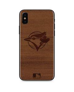 Toronto Blue Jays Engraved iPhone XS Skin