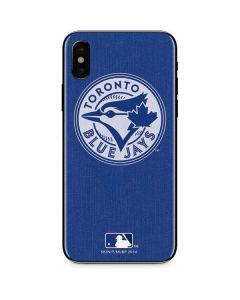 Toronto Blue Jays Monotone iPhone XS Skin