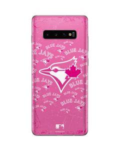 Toronto Blue Jays Pink Cap Logo Blast Galaxy S10 Plus Skin