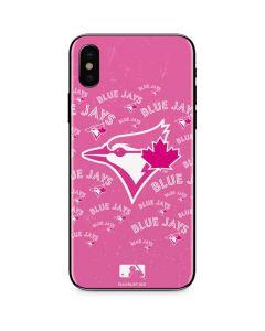 Toronto Blue Jays Pink Cap Logo Blast iPhone XS Skin