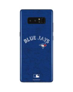Toronto Blue Jays Solid Distressed Galaxy Note 8 Skin
