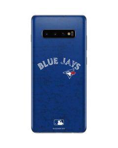 Toronto Blue Jays Solid Distressed Galaxy S10 Plus Skin