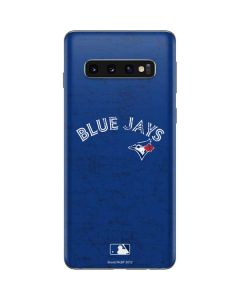 Toronto Blue Jays Solid Distressed Galaxy S10 Skin