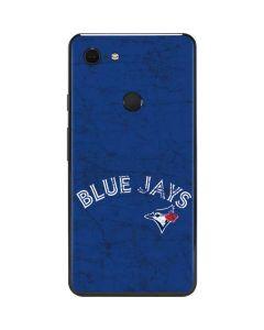 Toronto Blue Jays Solid Distressed Google Pixel 3 XL Skin