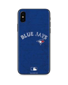 Toronto Blue Jays Solid Distressed iPhone XS Skin