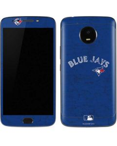 Toronto Blue Jays Solid Distressed Moto E4 Plus Skin