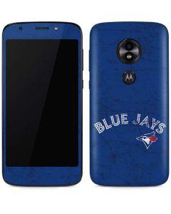 Toronto Blue Jays Solid Distressed Moto E5 Play Skin