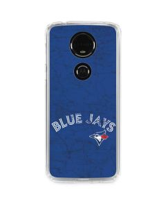 Toronto Blue Jays Solid Distressed Moto E5 Plus Clear Case