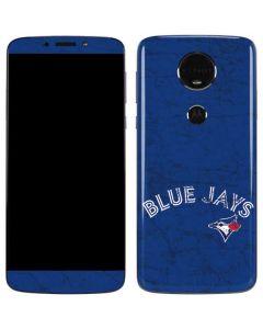 Toronto Blue Jays Solid Distressed Moto E5 Plus Skin