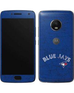 Toronto Blue Jays Solid Distressed Moto G5 Plus Skin