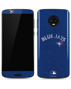 Toronto Blue Jays Solid Distressed Moto G6 Skin