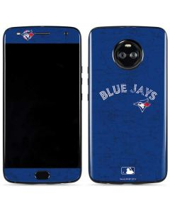 Toronto Blue Jays Solid Distressed Moto X4 Skin