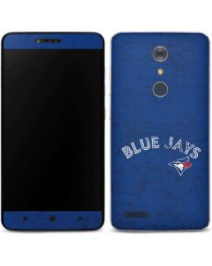Toronto Blue Jays Solid Distressed ZTE ZMAX Pro Skin