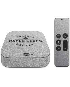 Toronto Maple Leafs Black Text Apple TV Skin