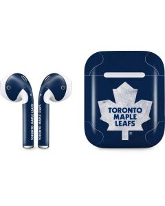 Toronto Maple Leafs Distressed Apple AirPods Skin