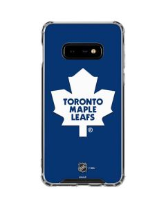 Toronto Maple Leafs Solid Background Galaxy S10e Clear Case