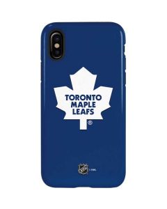 Toronto Maple Leafs Solid Background iPhone XS Pro Case