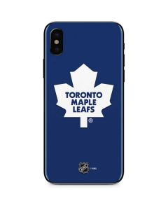 Toronto Maple Leafs Solid Background iPhone XS Skin