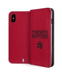 Toronto Raptors Standard - Red iPhone XS Max Folio Case
