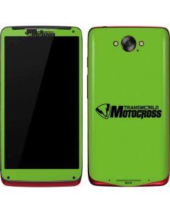 TransWorld Motocross Green Logo Motorola Droid Skin