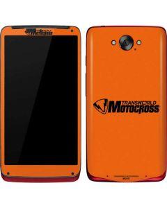 TransWorld Motocross Orange Logo Motorola Droid Skin