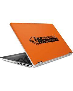 TransWorld Motocross Orange Logo HP Pavilion Skin