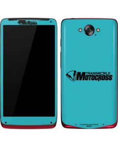 TransWorld Motocross Teal Logo Motorola Droid Skin