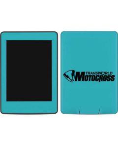 TransWorld Motocross Teal Logo Amazon Kindle Skin
