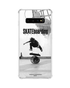 TransWorld SKATEboarding Black and White Galaxy S10 Plus Clear Case