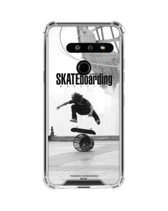 TransWorld SKATEboarding Black and White LG G8 ThinQ Clear Case