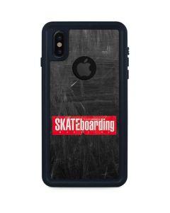 TransWorld SKATEboarding Magazine Chalkboard iPhone X Waterproof Case